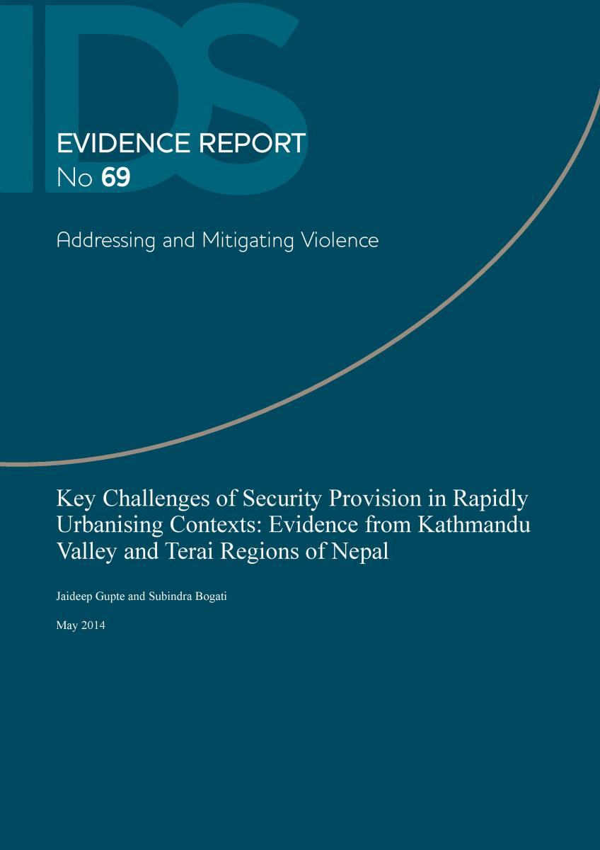 Key Challenges of Security Provision in Rapidly Urbanising Contexts: Evidence from Kathmandu Valley and Terai Regions of Nepal